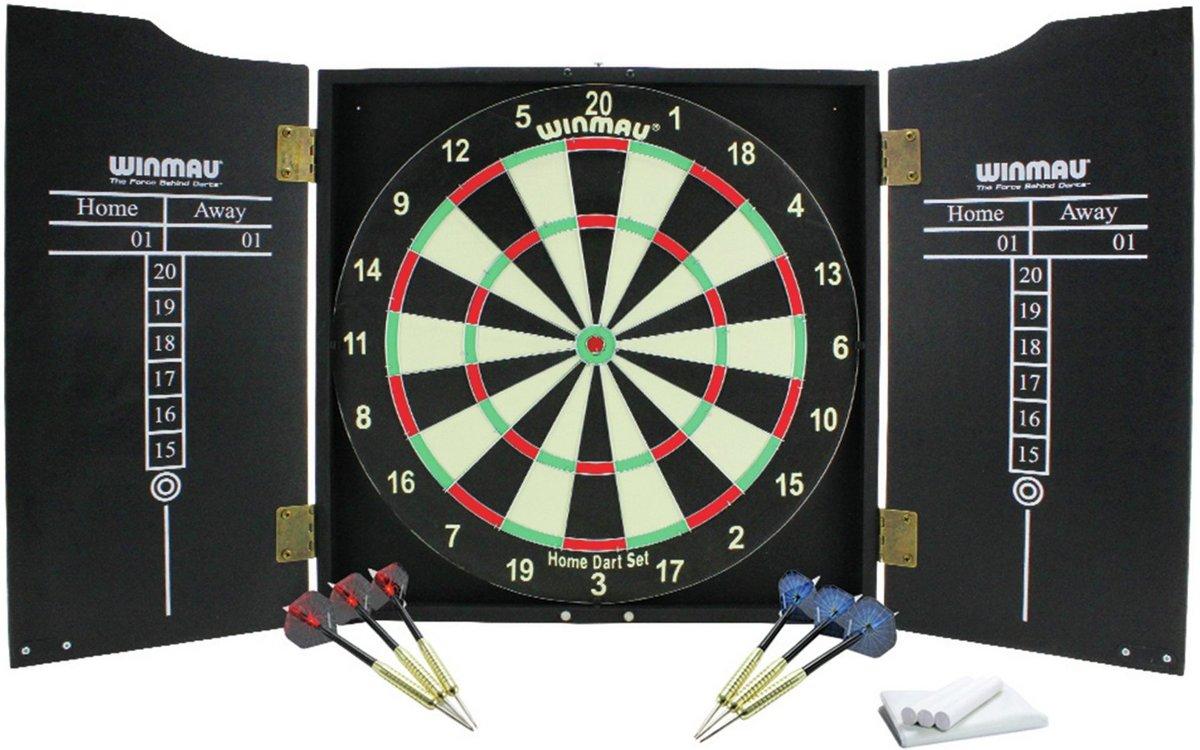 Winmau Home Darts Set Inclusief 2 sets darts, krijt / stofdoekset en scorepanelen. kopen