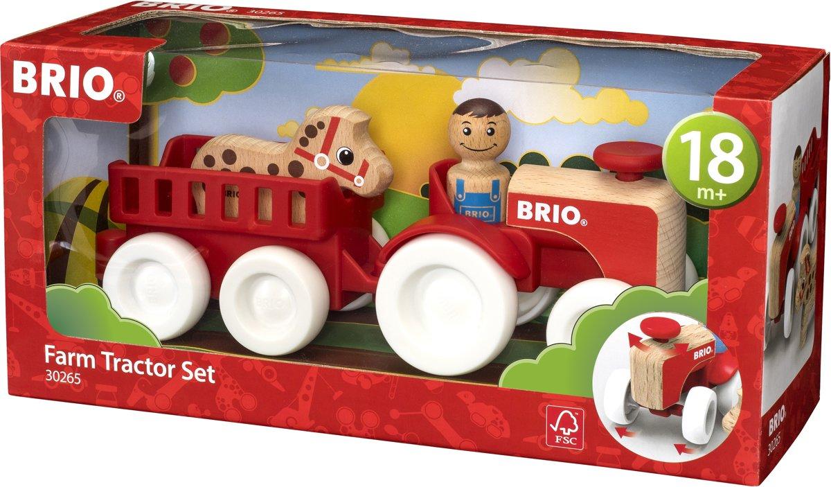 BRIO Tractorset met paard in aanhanger - 30265