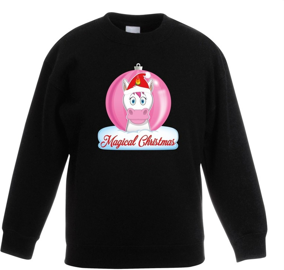 Kersttrui met roze eenhoorn kerstbal zwart voor meisjes 9-11 jaar (134/146) kopen