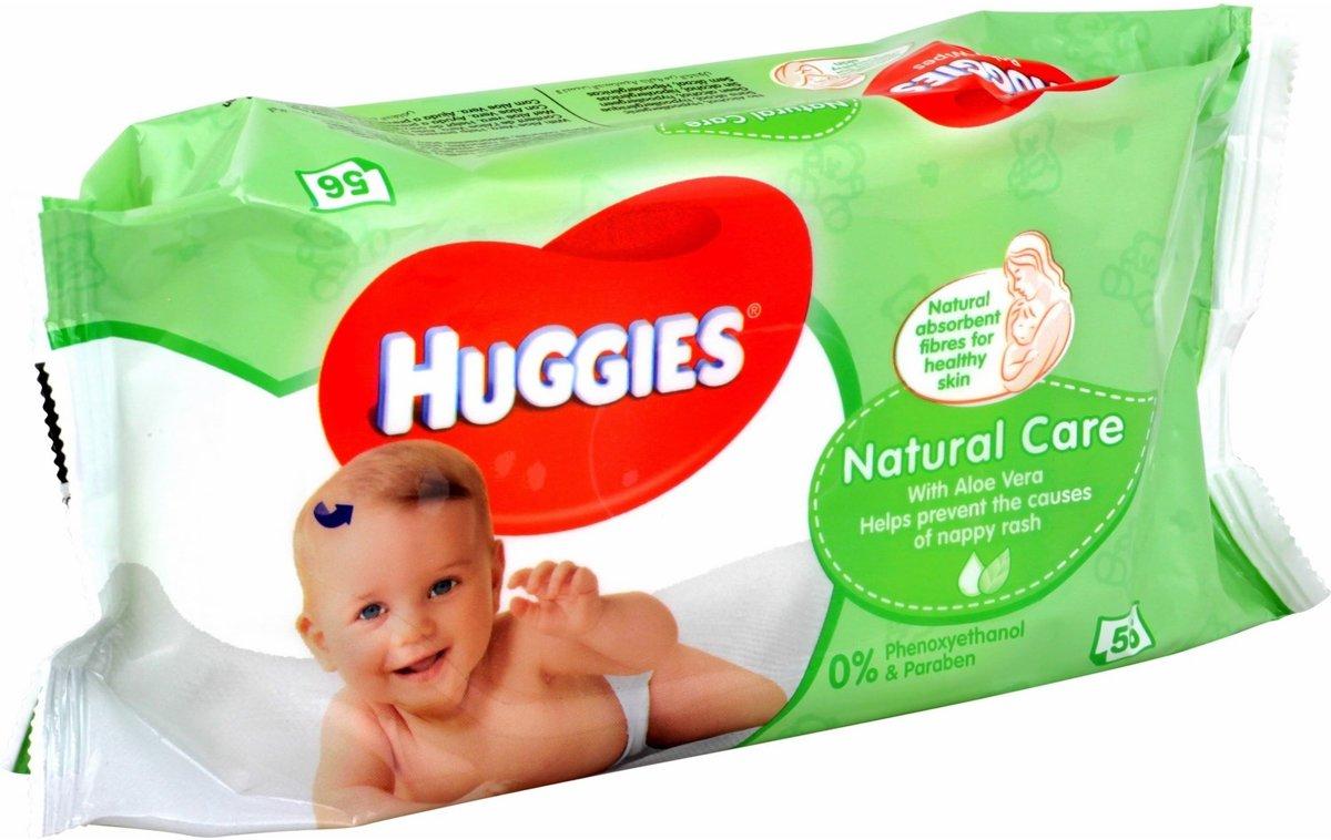 Huggies Natural Care - 56 stuks - Billendoekjes kopen