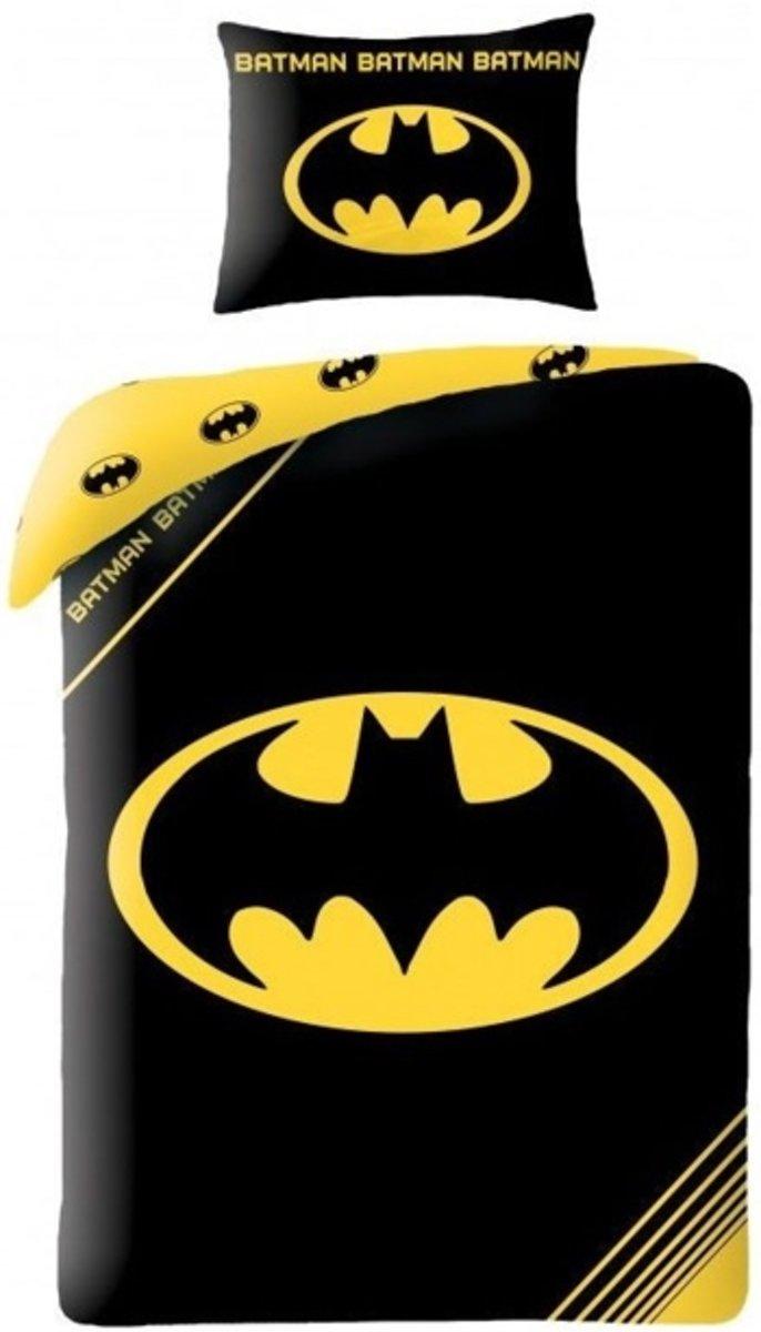 Batman Dekbedovertrek Logo - Eenpersoons - 140x200 cm - Zwart/Geel kopen