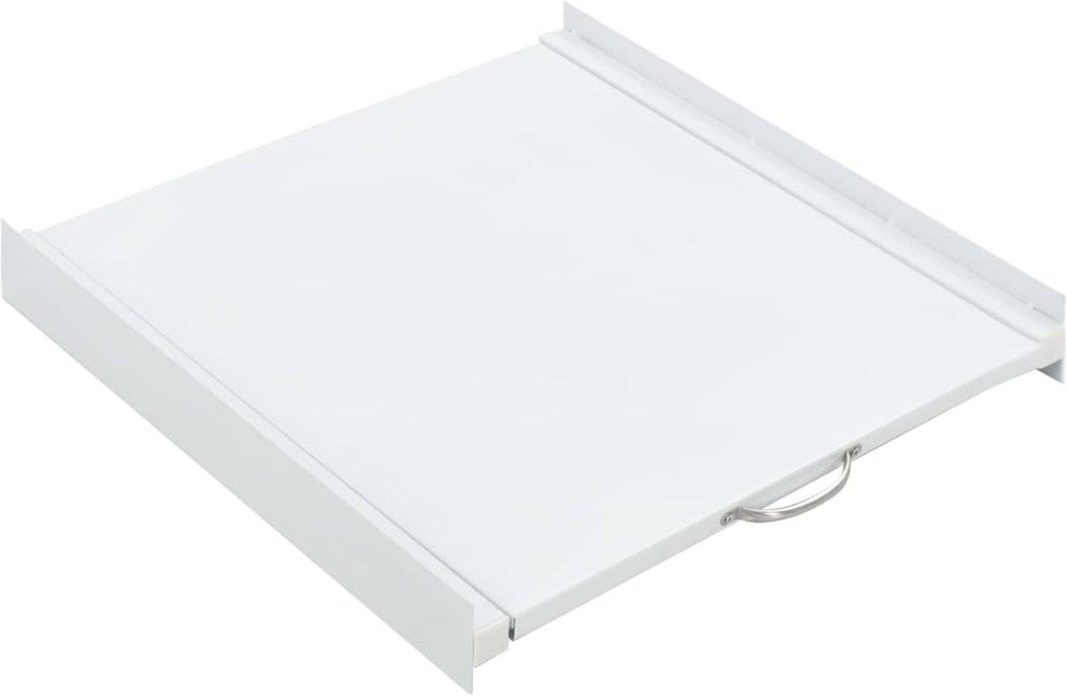 vidaXL Wasmachine stapelkit met uittrekbare plank