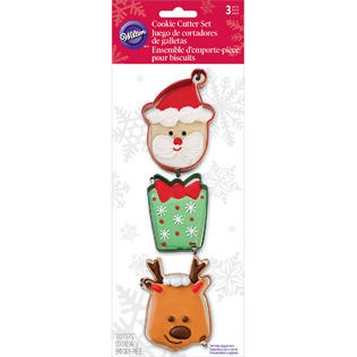 Wilton - Cookie cutter set - kerstthema - verpakt per 3 kopen