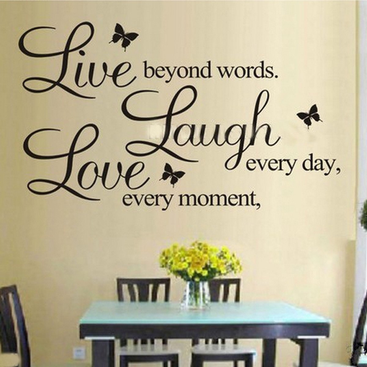bol.com | Muursticker tekst \'live laugh love\' 50x70