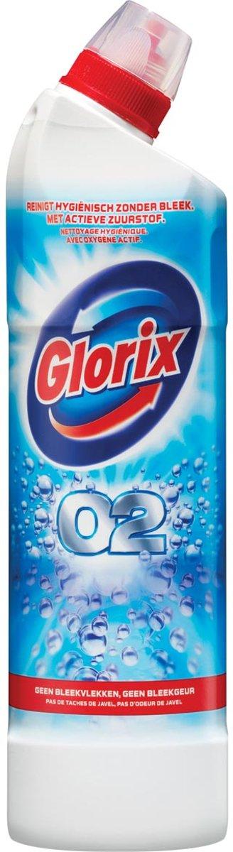 16x Glorix toiletreiniger O2, flacon van 0,75 liter kopen
