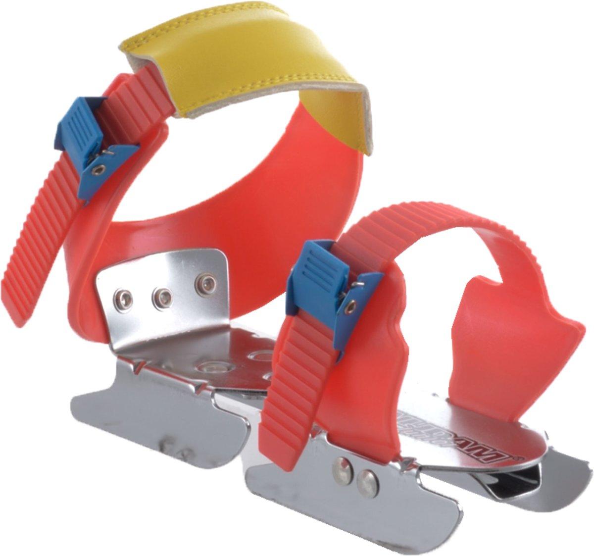 Nijdam Junior Glij-ijzers - Verstelbaar - Rood/Geel
