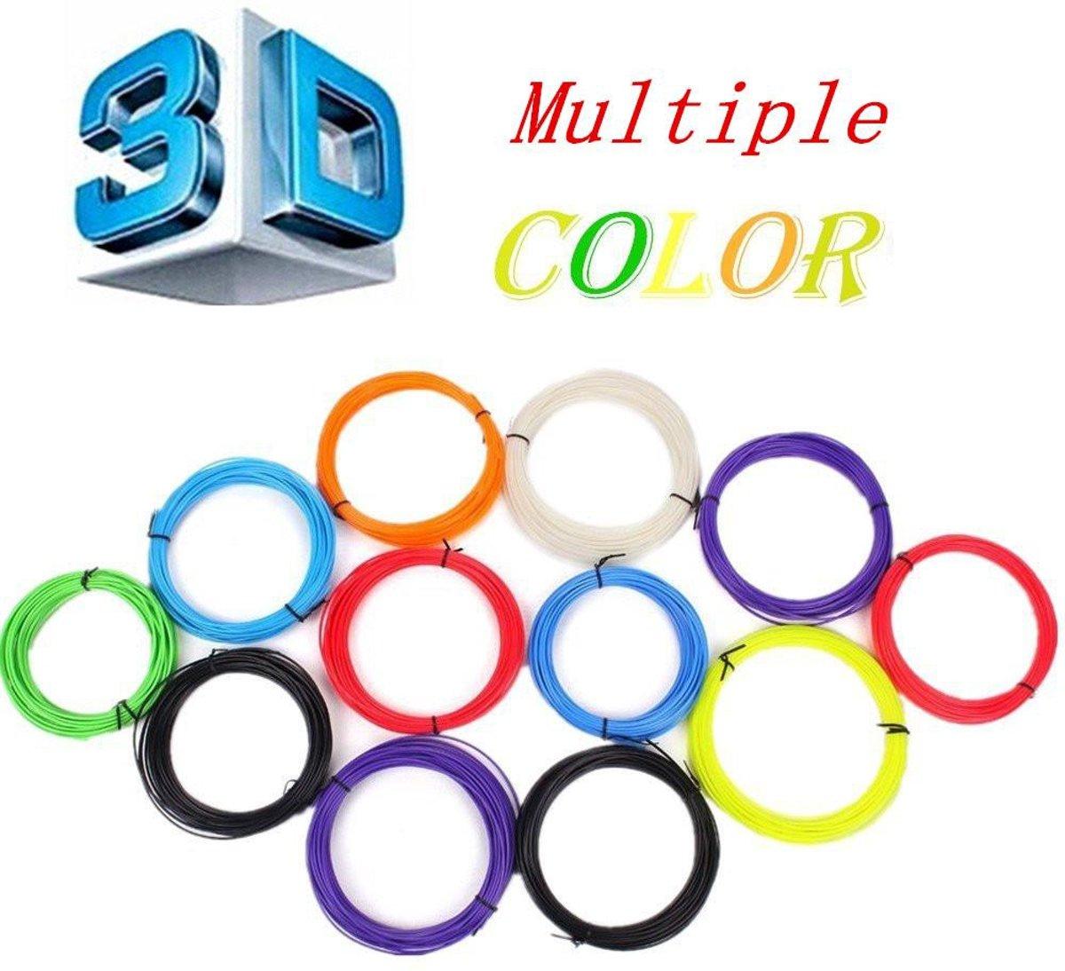 PLA Filament 3d voor printerpen  10x5 meter =50m 10 kleuren. Let op excl printer pen kopen