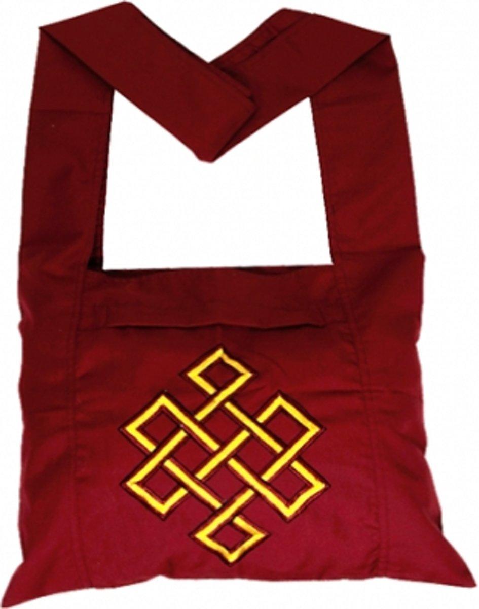 Lama tas rood met gele oneindigheidsknoop - 40x36x86 cm - M kopen