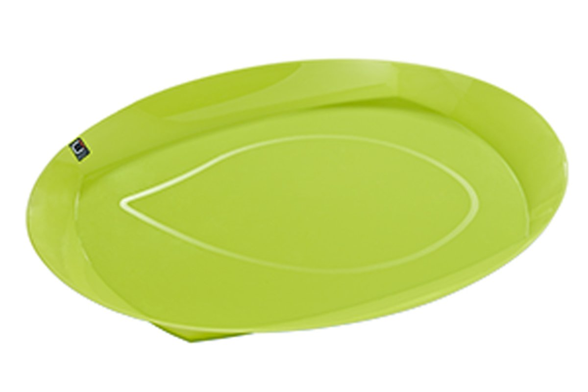 Cuisine-C Viva Summer Dienblad - Ovaal - 44 cm x 33 cm x 7 cm - Groen