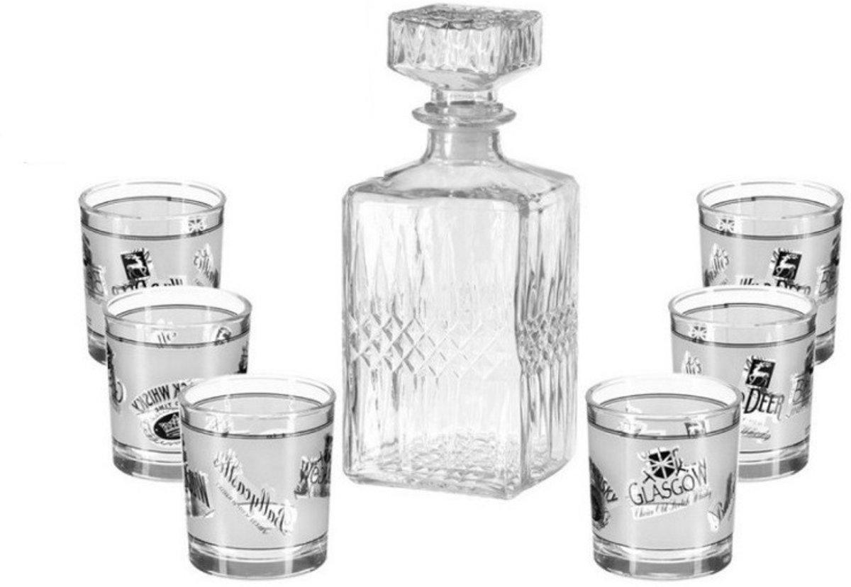 Secret de Gourmet - Kristallen Whisky karaf met 6 glazen kopen