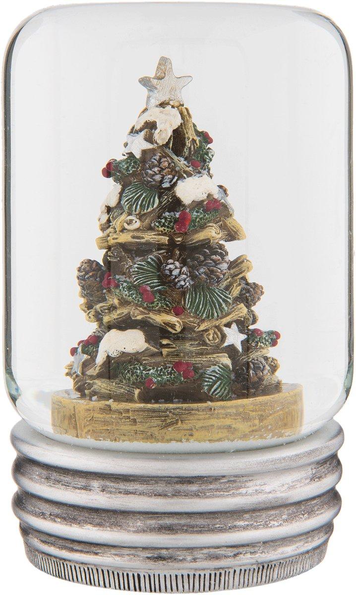 Clayre & Eef Sneeuwbol kerstboom Ø 7x10 cm kopen