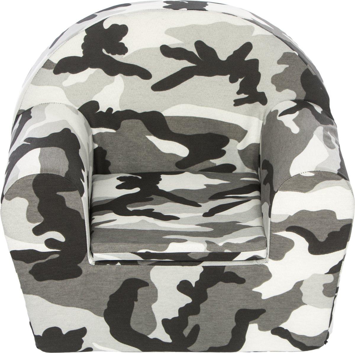 Peuterstoeltje-Kinderfauteuil Camouflage antraciet kopen