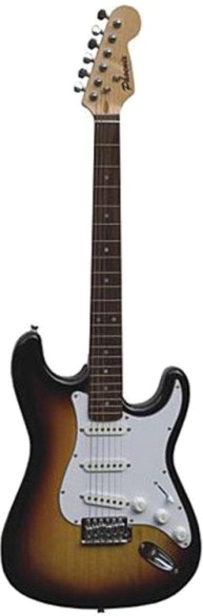 Phoenix Elektrische Gitaar Stratocaster Model Bruin/wit