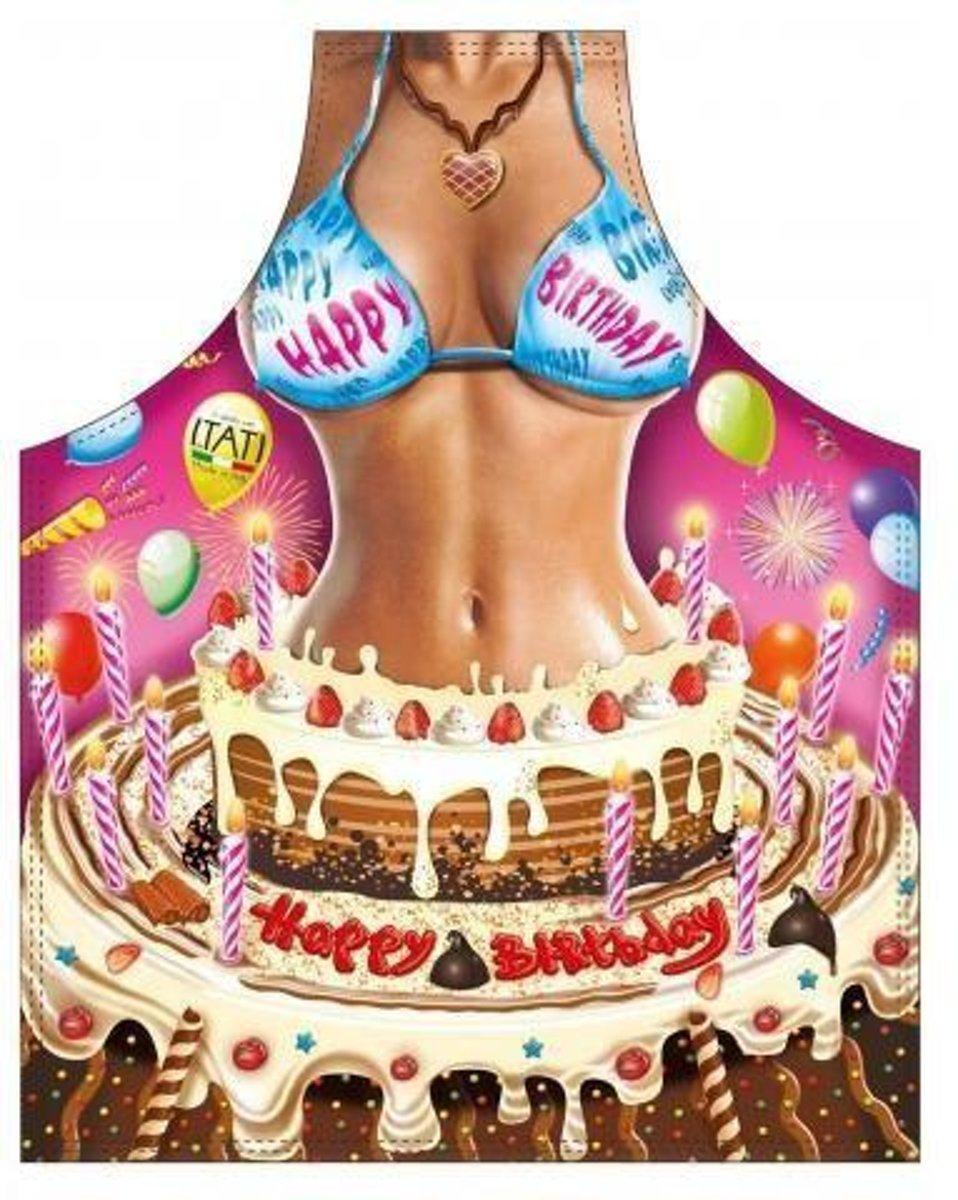 Happy Birthday Vrouw - Sexy Grappig Leuk Schort Keukenschort