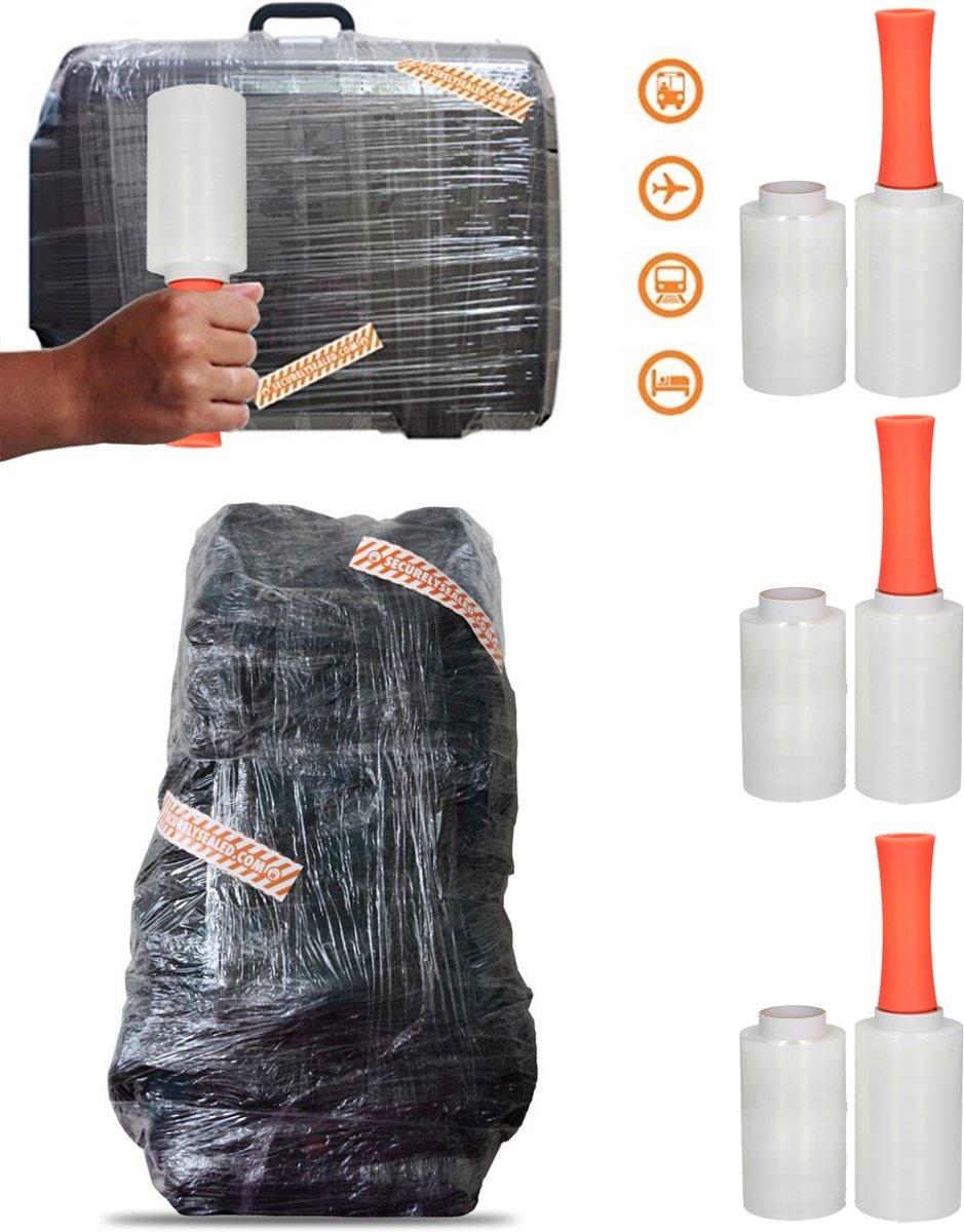 900 Meter Koffersealer op 6 Rollen – 6x150mx12,5cm | Handwikkelfolie | Folie voor Sealen Reisbagage kopen