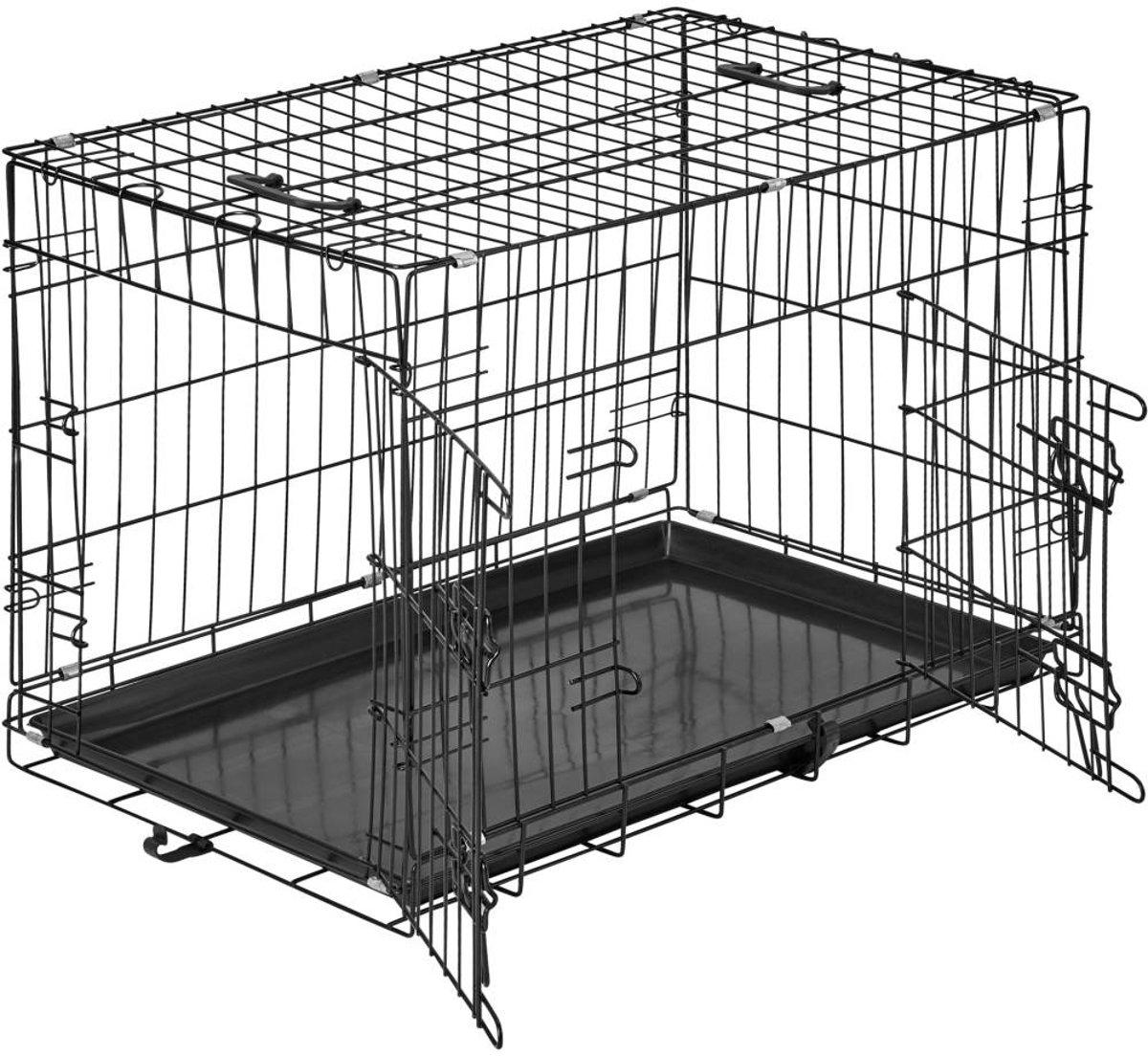 TecTake - Hondenkooi traliebox 76 x 47 x 51 cm - 402294 kopen