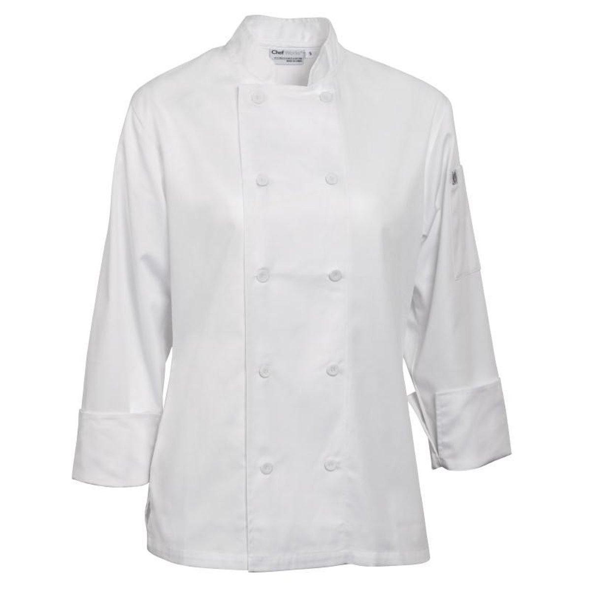 Chef Works damesbuis Marbella wit Maat S kopen