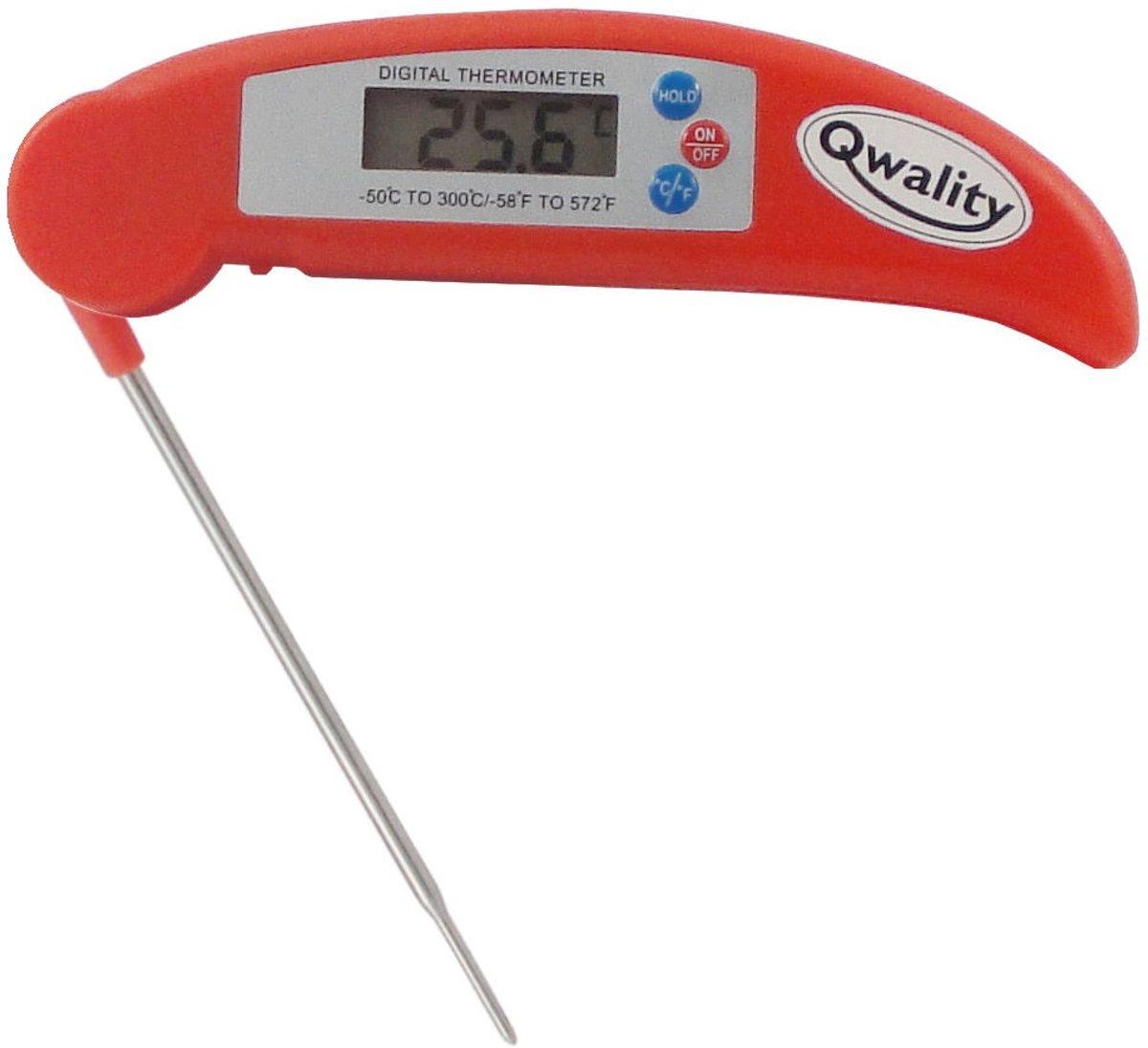 BBQ digitale kook thermometer - Vleesthermometer keuken - Inklapbaar design - Temperatuur range -50 °C tot 300°C - Qwality4u kopen