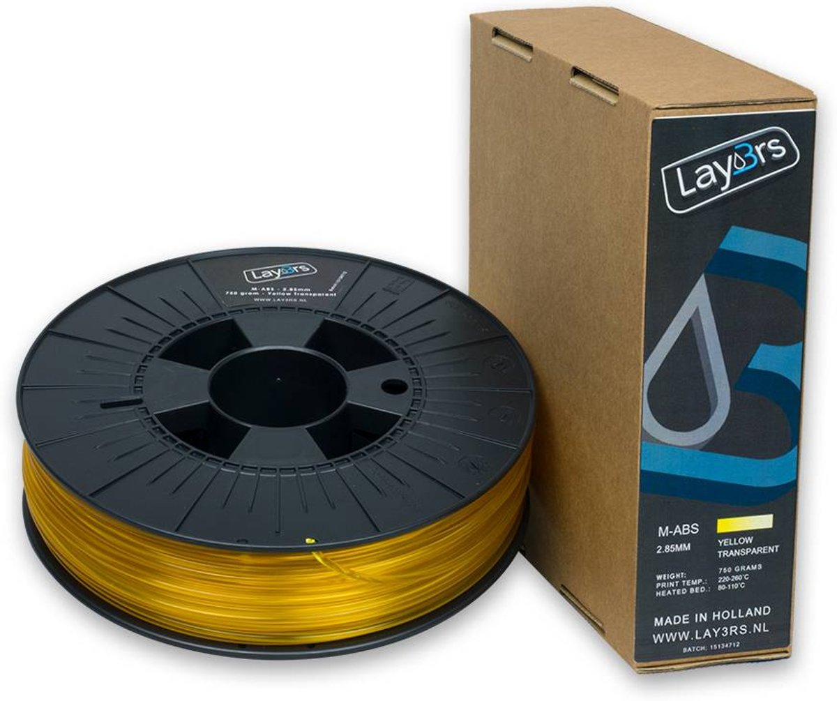 Lay3rs M-ABS Yellow Transparant - 1.75 mm kopen