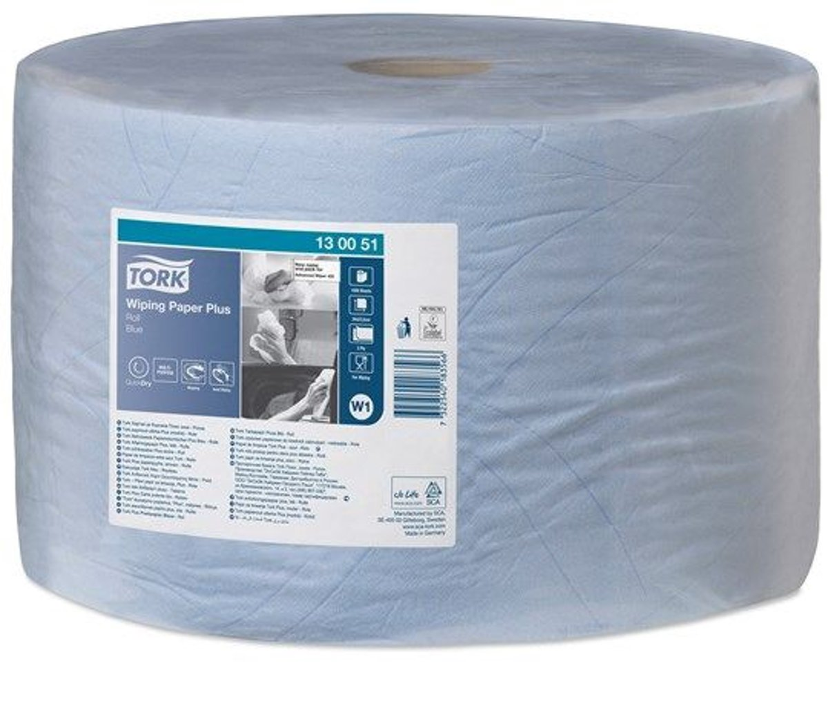 Tork Wiping Plus  Rol Poetspapier  2-laags Blauw W1 kopen