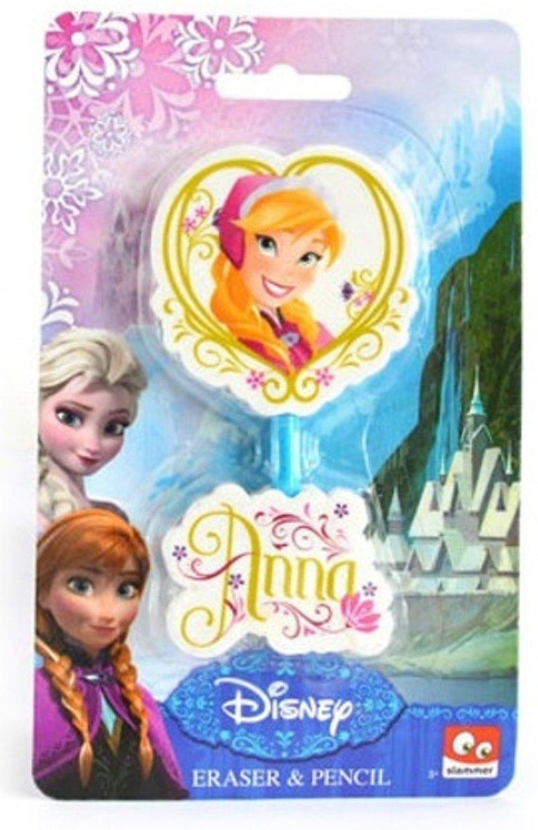 Slammer Frozen Gummen En Potlood Anna 7 Cm 3-delig kopen