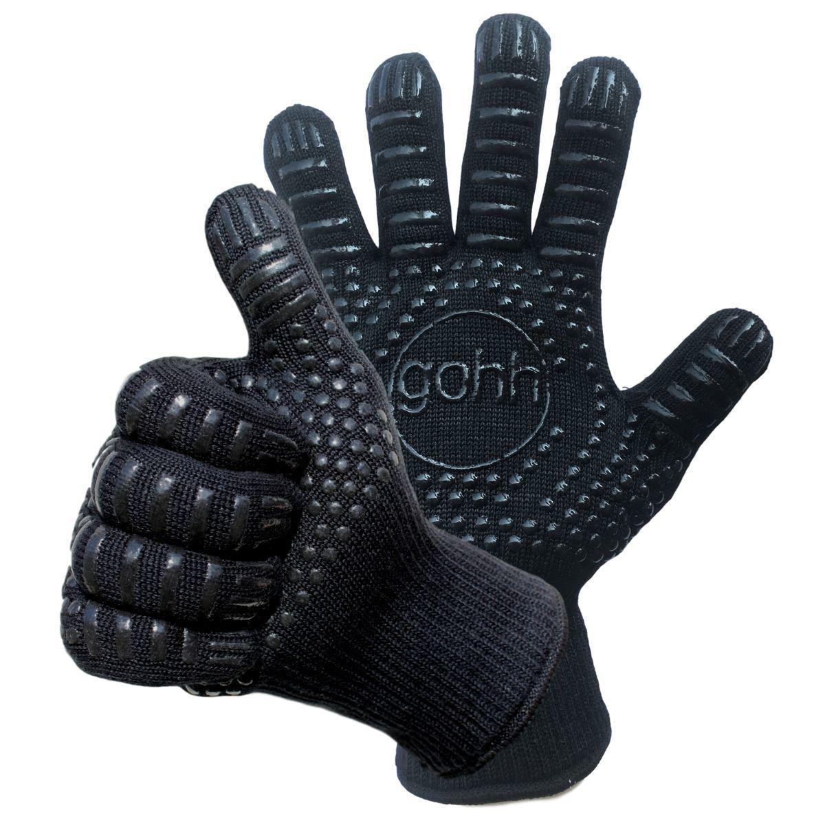2 Aramide Kevlar BBQ handschoenen tot 500 graden Celsius (EN407) kopen