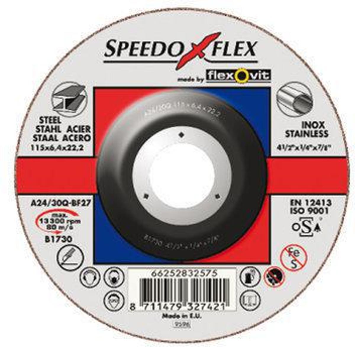 Speedoflex afbraamschijf SP A24/30Q 125x6.4x22.2 BF27 kopen