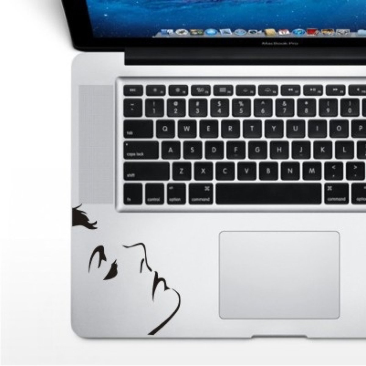 Gezicht - MacBook Wrist Decals Skins Stickers Pro / Air kopen