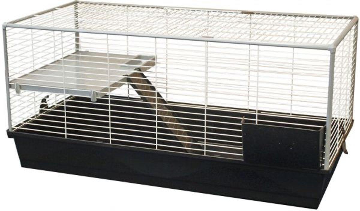 Voltrega konijnenkooi 977 deluxe zwart / grijs 120x58x57 cm