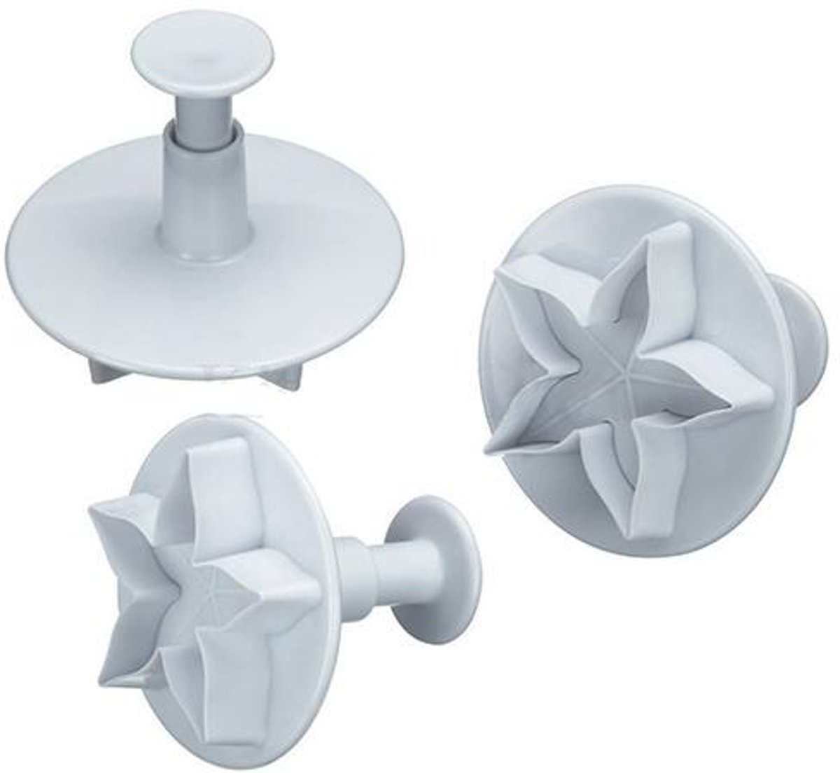 KitchenCraft Set van 3 plunger cutters - lotus / bloemen - Sweetly Does It | Kitchen Craft kopen
