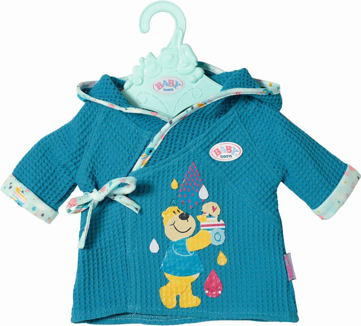 BABY born? Badjas: blauw