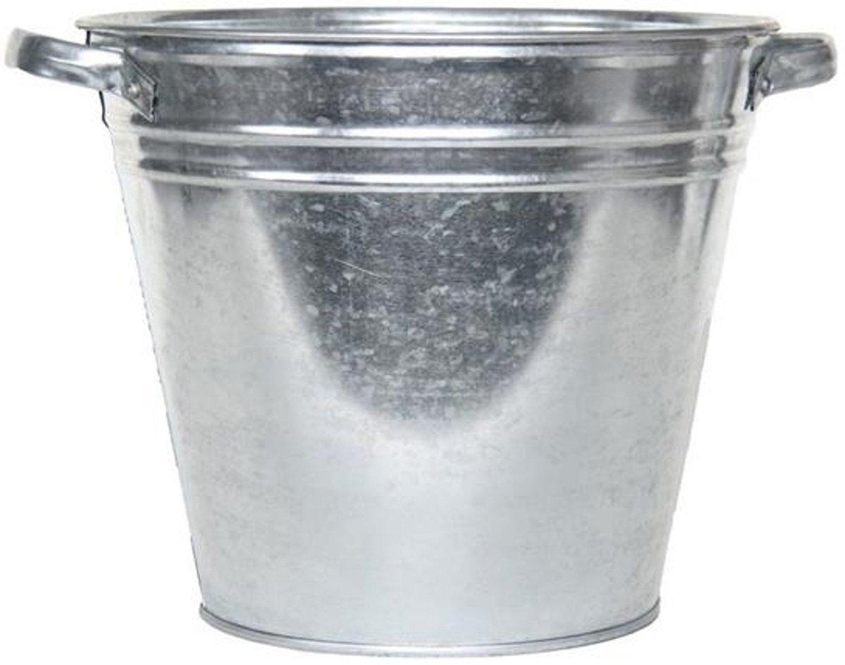 Zilveren kuip emmer - 15 liter - 32 cm - teil kopen