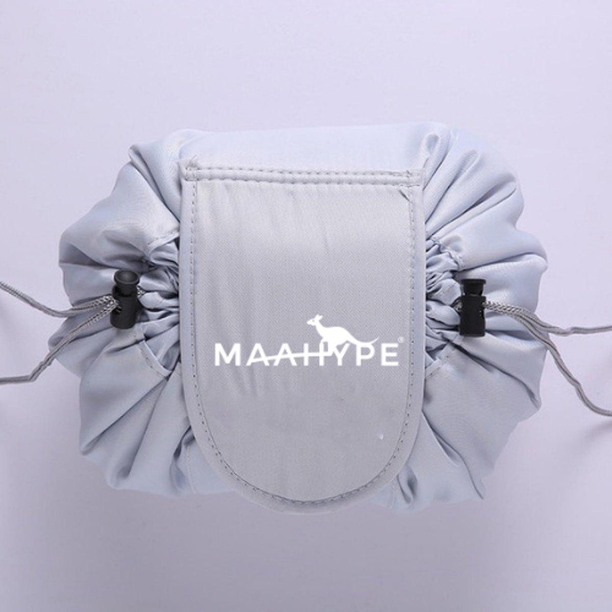 MaaHype Make-up organiser - Makeup opbergen - Accesoires organiser - Opbergsysteem - Reis toilettas - Lichtgrijs kopen