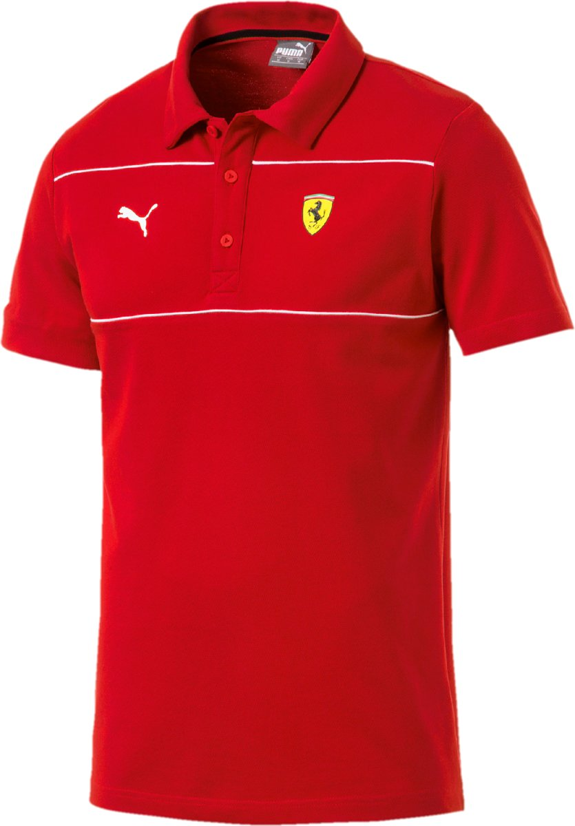 PUMA Scuderia Ferrari Polo Shirt Heren - Rosso Corsa
