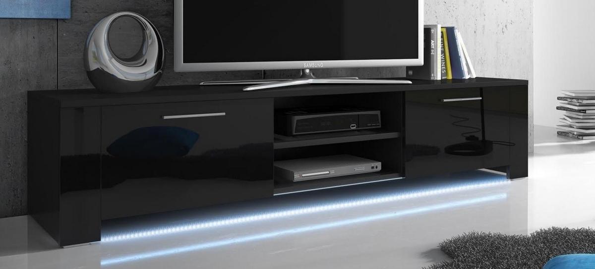 bol tv meubel dressoir bendo met led verlichting body zwart