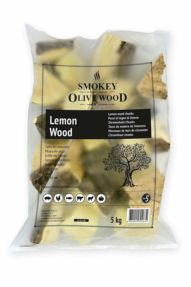 Smokey Olive Wood - Chunks - 5kg Citroenhout - voor de BBQ en Smoker - grote brokken ø 5cm-10cm kopen