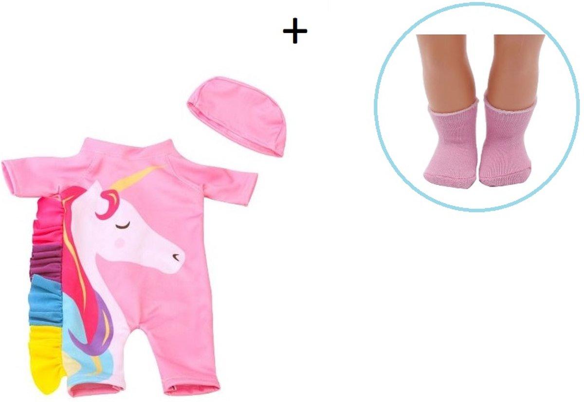 Voor de Pop   Babypop Unicorn Onesie   Babypakje   Babypop   Pop   Baby born   Babyborn   Babypop   Poppen accessoires