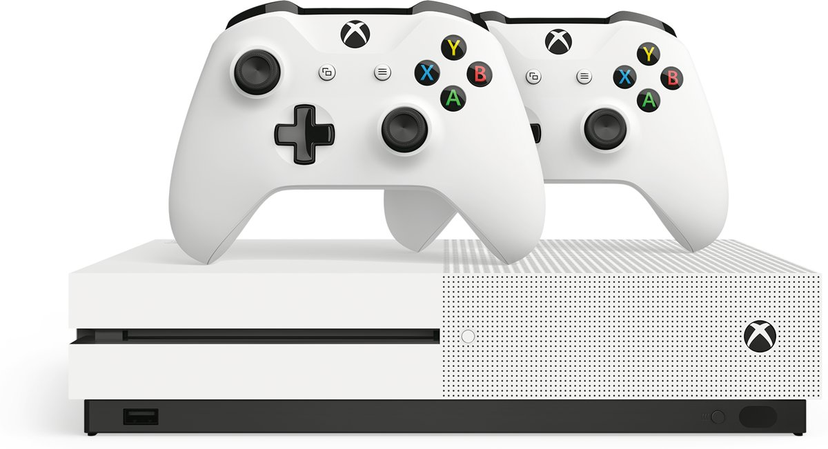 Xbox One S console + 2 draadloze controllers - 1 TB Xbox One