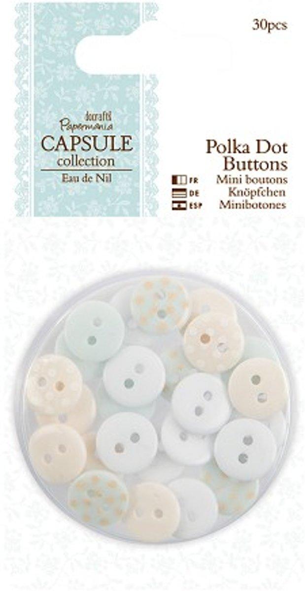 Polka Dot Buttons (30pcs) - Capsule - Eau De Nil kopen