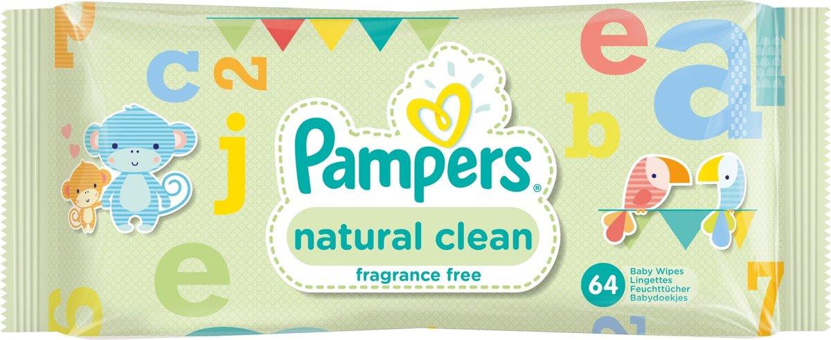 Babydoekjes Pampers Natural Clean - 64 doekjes kopen