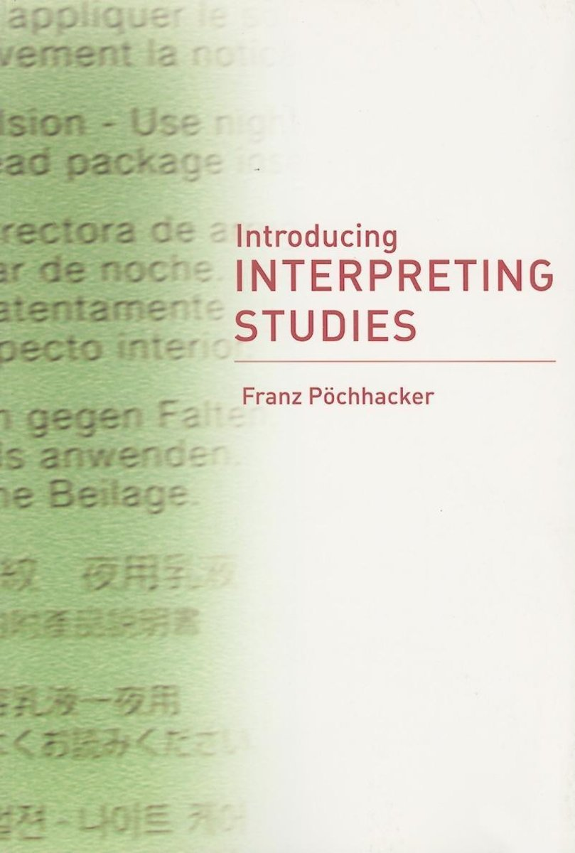 bol.com | Introducing Interpreting Studies (ebook), Franz Pöchhacker |  9780203504802 | Boeken