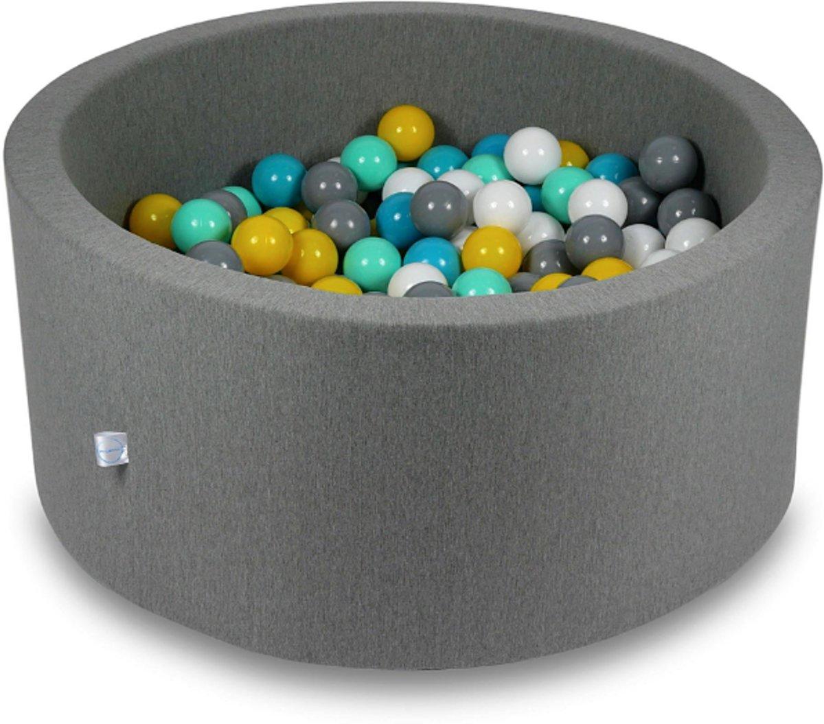 Ballenbak - 300 ballen - 90 x 40 cm - ballenbad - rond donker grijs