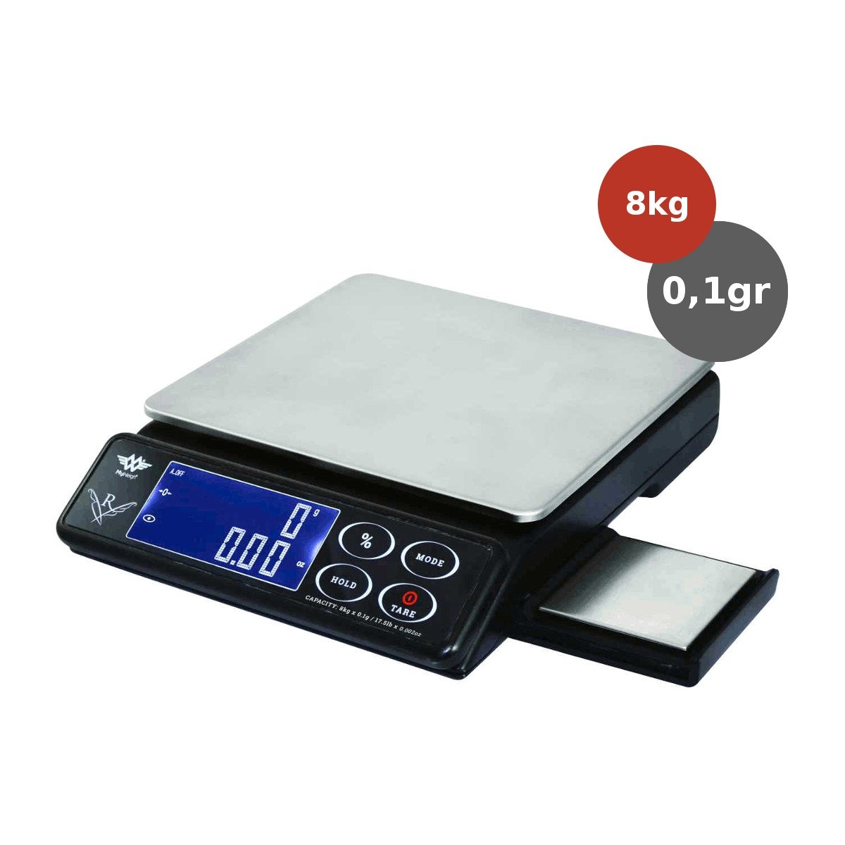 My Weigh Maestro 8kg x 01gr keukenweegschaal