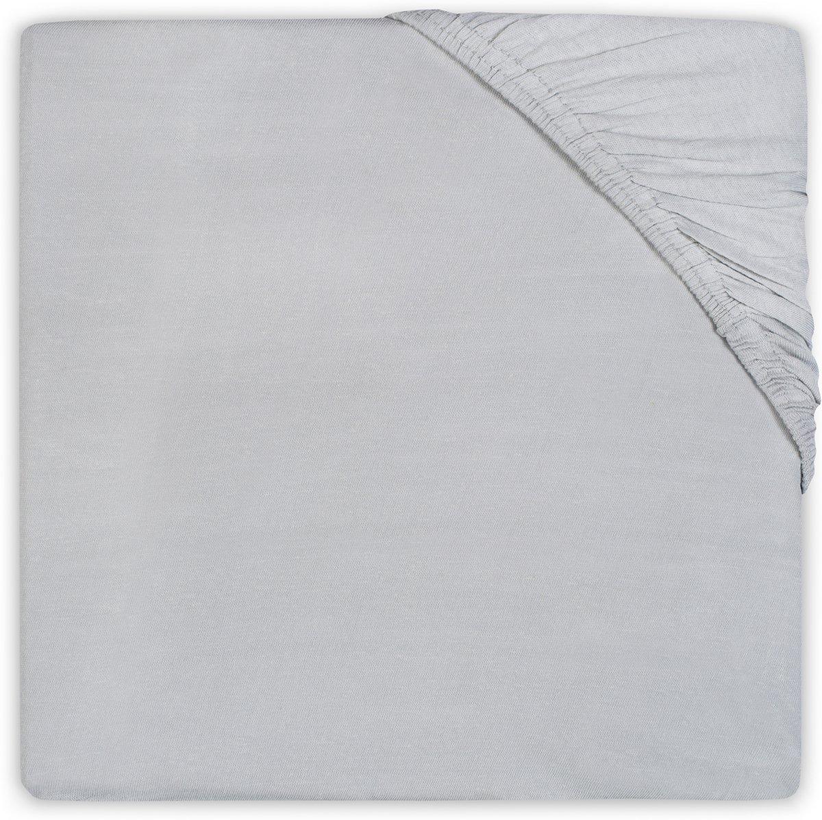 Little Lemonade Hoeslaken katoen 70x140cm soft grey