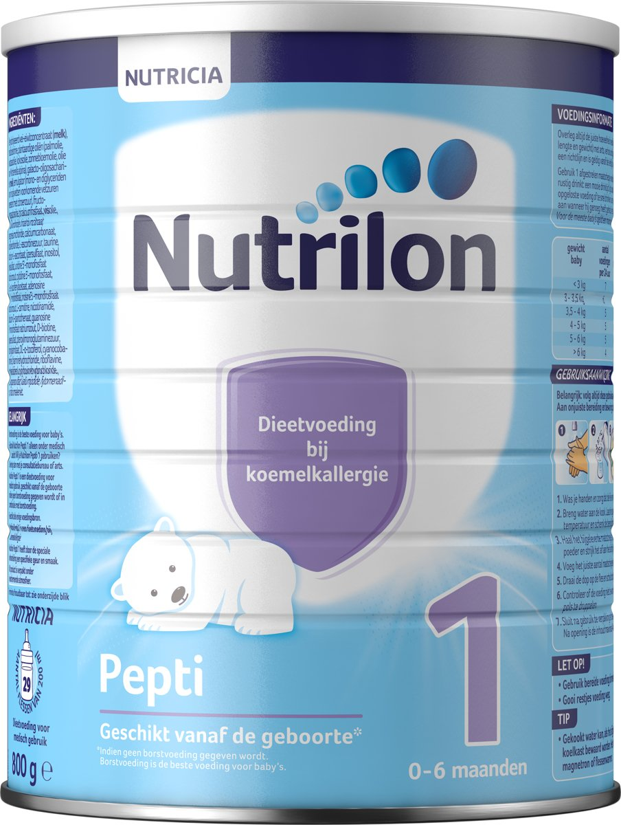 Nutrilon Pepti 1 - Flesvoeding - 800 gram kopen