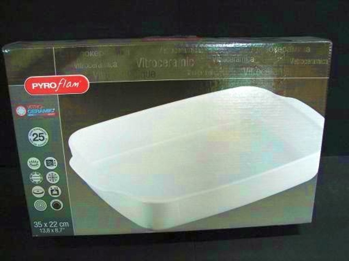Pyrex Pyroflam Ovenschaal - Roaster - Rechthoekig -  35 x 22 x 6 cm - Bestendig van -40 tot +700 graden celsius kopen