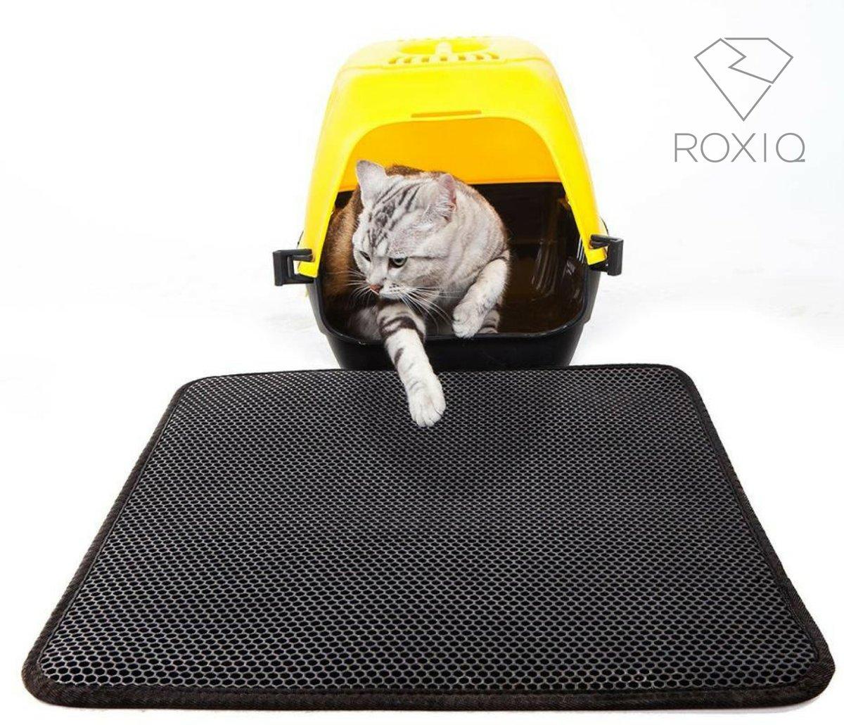 Handige Kattenbak Mat - Grit Opvanger - Dubbellaags & Waterdichte mat voor Katten - Katten Mat met Filter voor Grit - Kattenbak Mat voor Kattenbak - Katten matje - Kataccesoires - Katten accesoires - Kat benodigdheden - Kitten - Gritmatje voor poes kopen