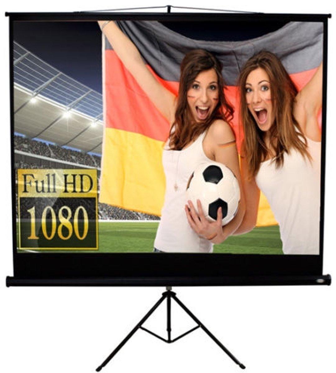 Beamer Projectie scherm met statief - 152 x 152 cm kopen