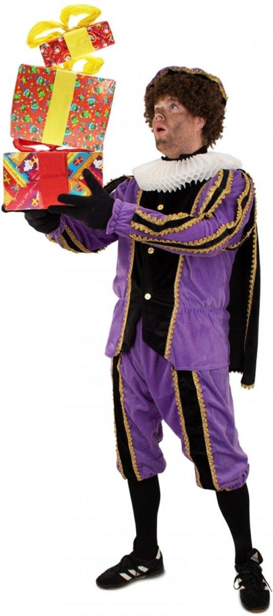 Piet plushe zwart/paars Maat S