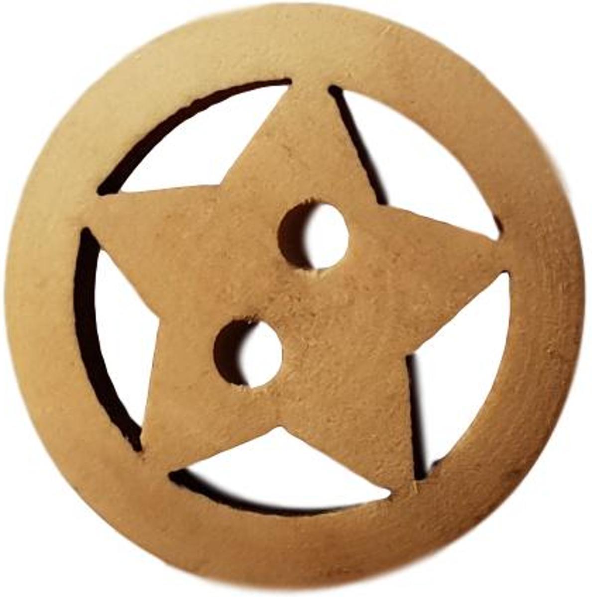 Knopen - 15 stuks - 20mm - Houten knopen - Ster - Knoop hout kopen